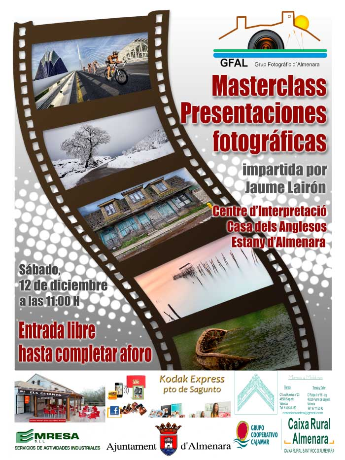 Cartel Masterclass Jaume Lairón