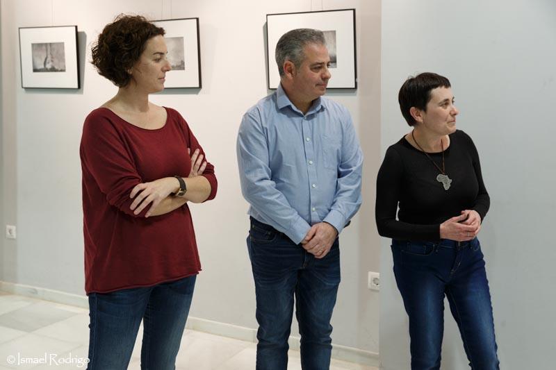 Estíbaliz Pérez, Santos Moreno e Isabel Casellas