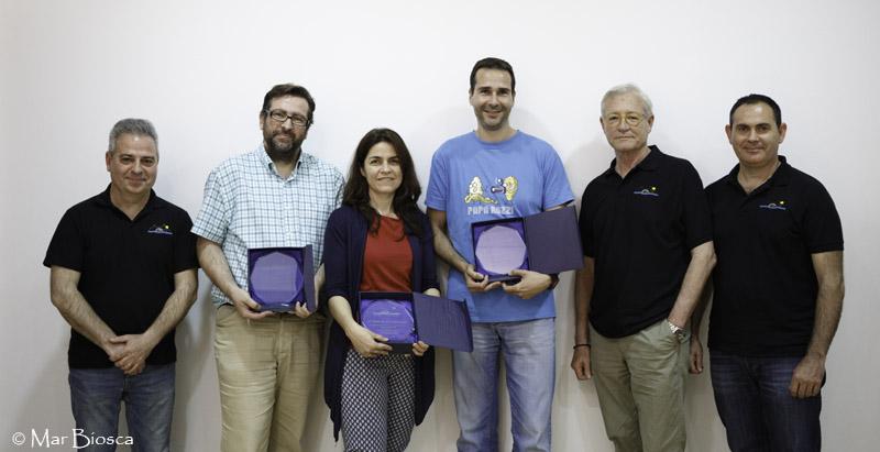 Obsequio jurados: Santos Moreno, Álex García, Inma Blaya, César March, Julíán Negredo y José Manuel Abarca